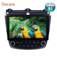 Seicane 10.1 inch Android 8.1 For 2003 2004 2005 2006 2007 Honda Accord 7 Car GPS Navigation Radio Player Quad core Head unit