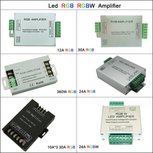 цена на DC5V 12V 24V Led RGB RGBW Amplifier 12A 24A 30A 3CH 4CH Led Controller for 5050 3528 Led Strip Light Tape Power Repeater Console