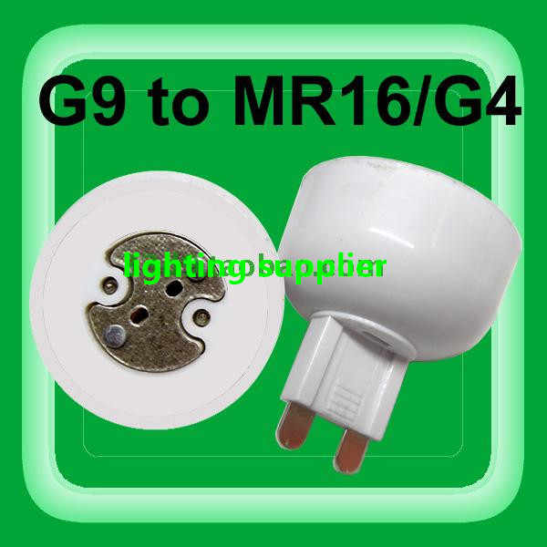 10pcs portable G9 led lamp base converter PC white light bulb adapter holder G9 to MR16,G4,G5.3,GY6.35,G8 led socket