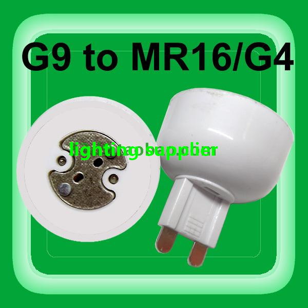 10pcs portable G9 led <font><b>lamp</b></font> base converter PC white light bulb adapter <font><b>holder</b></font> G9 to MR16,G4,G5.3,<font><b>GY6.35</b></font>,G8 led socket image