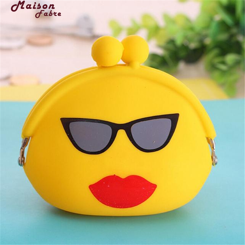 Maison Fabre Coin Purse Woman Women Silicone Jelly Wallet Change Bag Key Pouch Coin Purse Coin Purse Small
