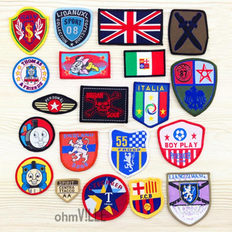 5da4754d80ca Iron On DIY Embroidery Cloth Badge Affixed Stickers Clothes Patch ...