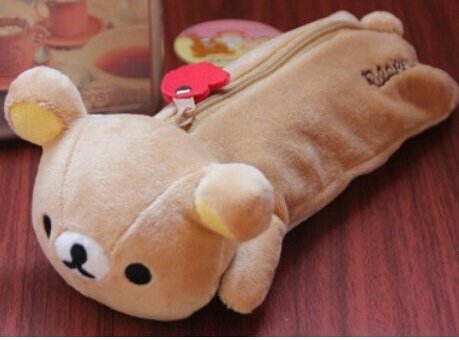 Plush Toy 1pc 20cm Cartoon Bear Zero Case Little Stationery Students Pencil Bag Stuffed Toy Creative Gift For Baby