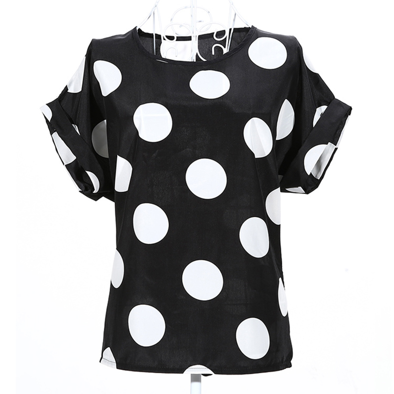2020 New Large Size Women Pprinting Blouse Bird Bat Shirt Short-Sleeved Chiffon Blusas Femininas Roupas Summer Style