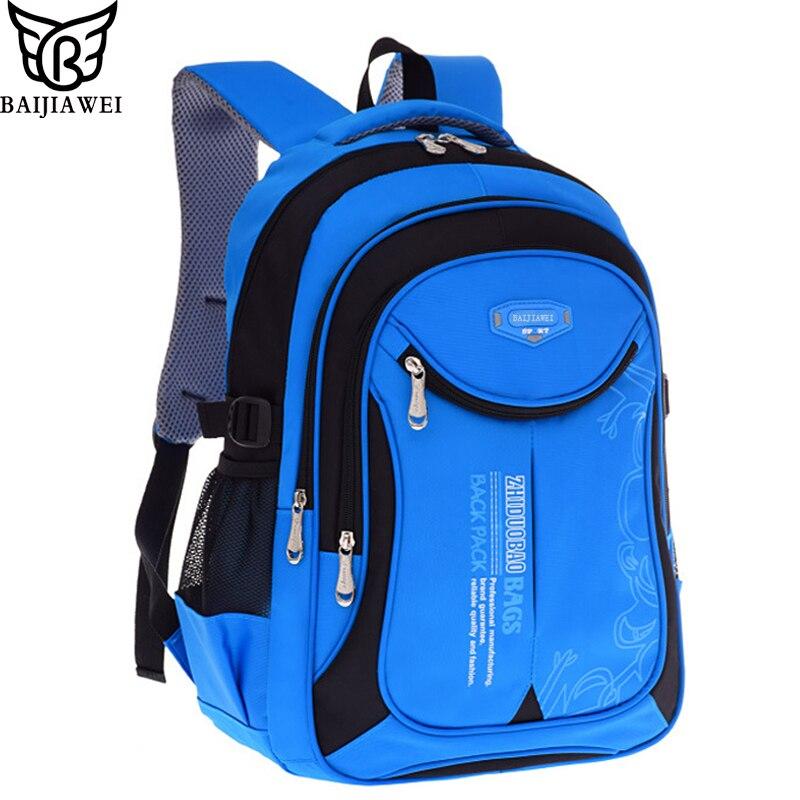 BAIJIAWEI Venta caliente niños mochilas bolsas de escuela primaria para estudiantes Super Light niños mochilas impermeable mochila