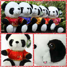 Free shipping Cute Panda Plush toys in Chinese Traditional Tang Suits Warm Stuffed animals Kung kids birthday christmas fu gifts