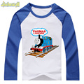 2017 Baby 100%Cotton Clothes Boy Girl Long Sleeve Raglan TShirt Unisex Children Cartoon Thomas Printing T Shirt Kids Top DCY010