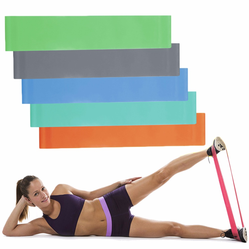 Elastic Resistance Band Muscle Workout Bands Fitness Body Equipment For Yoga
