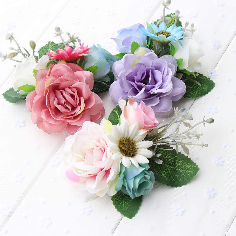 Free shipping Girls Trendy Bohemia Flower leaf Fabric Flora Hairpins Children Hair Accessories Colorful   Headwear   Hair Clip