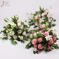40X40CM Artificial Flower Ball Wedding Scene Layout Road Lead Flowers For Roman Column Flower Stand Table Simulation Floral