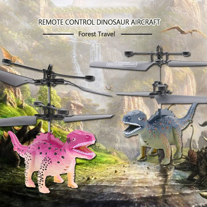 Remote Control Flying Dinosaur RC Drone Helicopter Aircraft Kids Children Toys