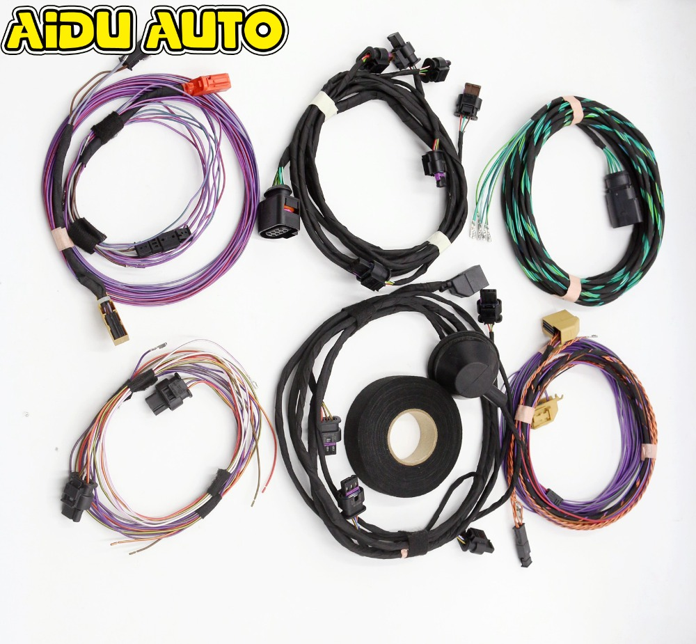 USE FIT FOR Golf 6 Jetta Mk6 Skoda Octavia Front & Rear Auto Parking Assist 12K Pla 2 .0 Upgrade OPS Install Harness Wire use fit for golf 6 jetta mk6 auto intelligent parking assist 12k park assist pla 2 0 upgrade ops install harness wire