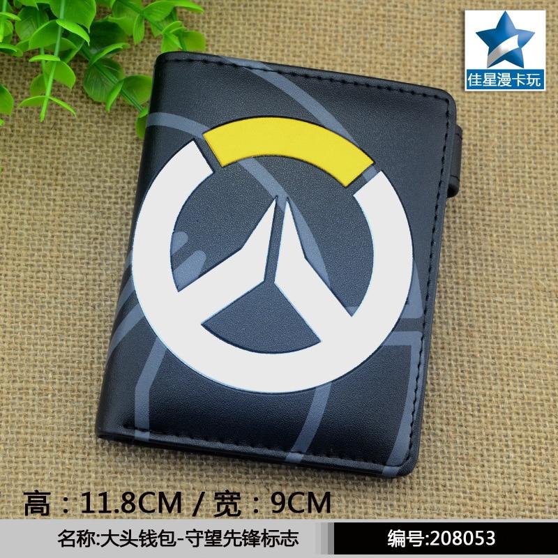 anime wallet watch over PU Cartoon OW game black purse short wallet AB420 картридж brother lc1220m пурпурный для mfc j430w j825dw dcp j525w черный 300 стр lc1220m