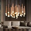 Luzes pingente pendurado iluminação de suspensão de madeira do vintage moderno lustres de lâmpadas led luminária de iluminação interior para casa deco