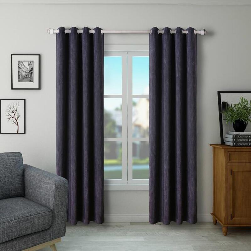Full Black Ou 3 Pass Fabric Curtain For Livingroom Red Orange GIGIZAZA  Blinds Custom Size Shade