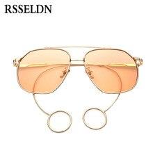 RSSELDN Nueva Oval gafas de Sol Mujeres Diseñador de la Marca de Moda gafas de Sol de La Vendimia Hombres Shades Lente Océano Aleación Piernas gafas de sol D680