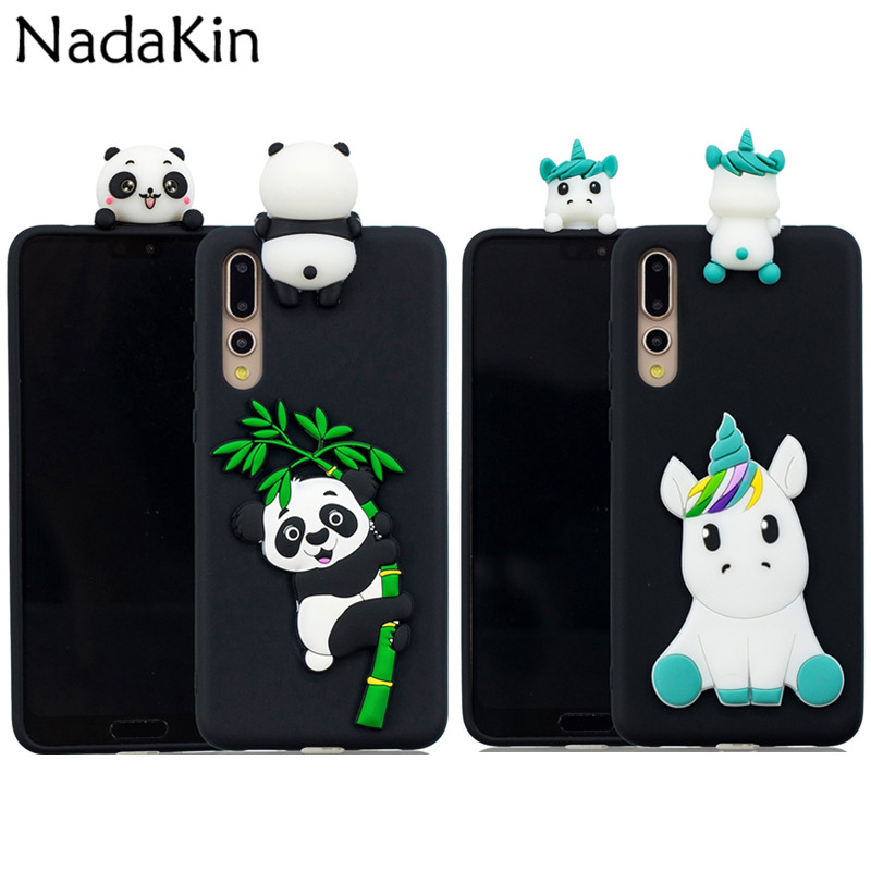 Silicone Back Cases for Huawei P Smart P10 P20 Mate 10 P8 P9 <font><b>Honor</b></font> <font><b>9</b></font> <font><b>Lite</b></font> 2017 7X Pro Dolls Soft Cover <font><b>Unicorn</b></font> Panda Bear image