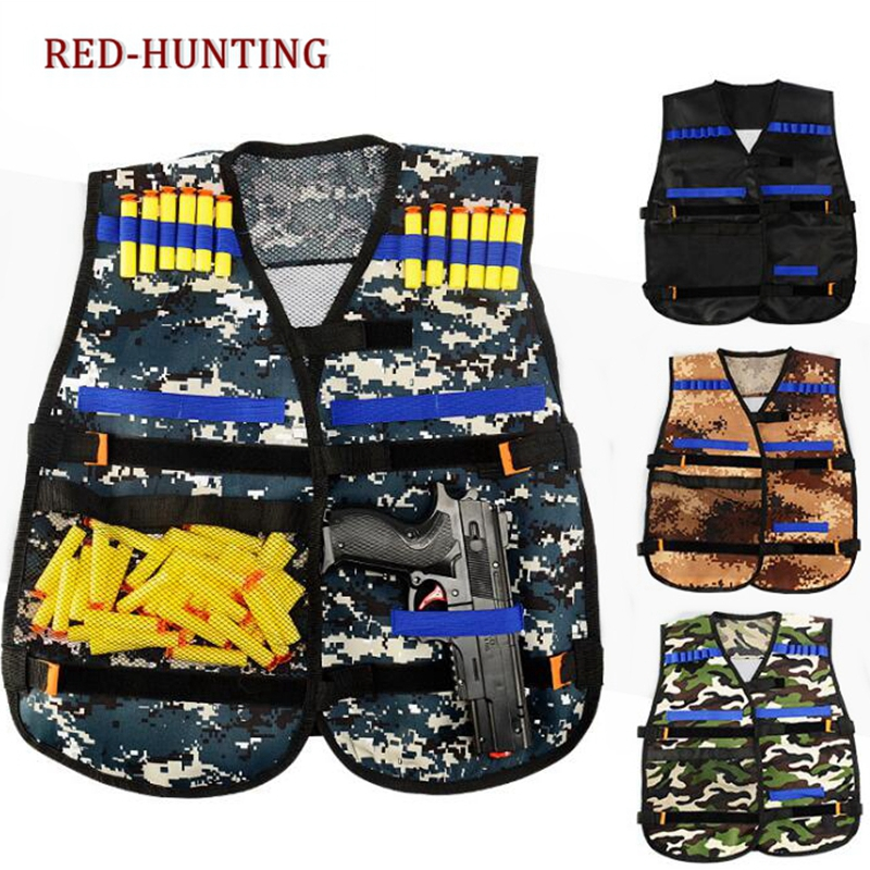 Soft Bullet Modified Exterior Tactical Carrier Darts Storage Waistcoat For Nerf Wargame Body Molle Armor Camouflage Toys & Hobbies