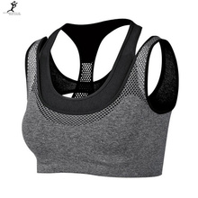 Push-up workout yoga mesh vest bra fitness professional running sexy top