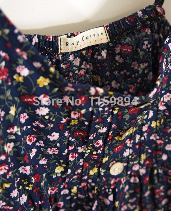 Summer-New-2015-plus-size-clothing-fashion-Slim-cotton-sundresses-dot-suspenders-floral-dress-26-color (3)