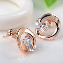 ROXI Brand Piercing Earring For Women Fashion Jewelry Rose Gold Platium Color Brand Crystal Stud Earring Jewelry Christmas Gift