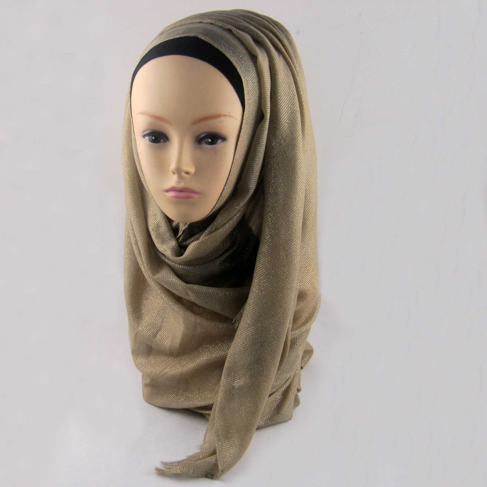 Мусульманский хиджаб мерцание шарф хиджабы блестящий шарфы мерцающий шаль, можете выбрать цвет - Цвет: color9