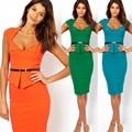 2017 Европа Основным Костюм Звезда С Стильный Пр Оккупации Женщины Тонкий Карандаш dress Flounce Dress женщины работают носить одежду