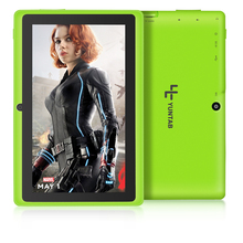 Free shipping Yuntab 7″ A33 Quad Core 1.5GHz four Colors Q88 7 inch Tablet PC 1024 x 600 Dual Camera 2500mAh 8GB