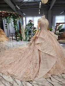 Image 4 - HTL509 高級ドバイイブニングドレスハイネックハート形背中クリスタル女性日 avond jurken