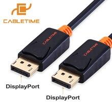 Cabletime Дисплей Порты и разъёмы Кабель 4 К 60 Гц DP кабель Дисплей Порты и разъёмы шнур адаптера 1.2 аудио-видео 2 М для HDTV проектор ПК MacBook