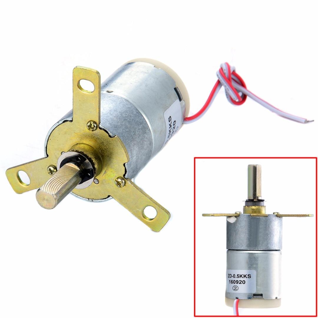 New 12V 25 RPM 32mm High Torque DC Gear Box Electric Motor Replacement Regulator zndiy bry 200rpm 200ma 40mm 12v dc replacement torque gear box motor silver