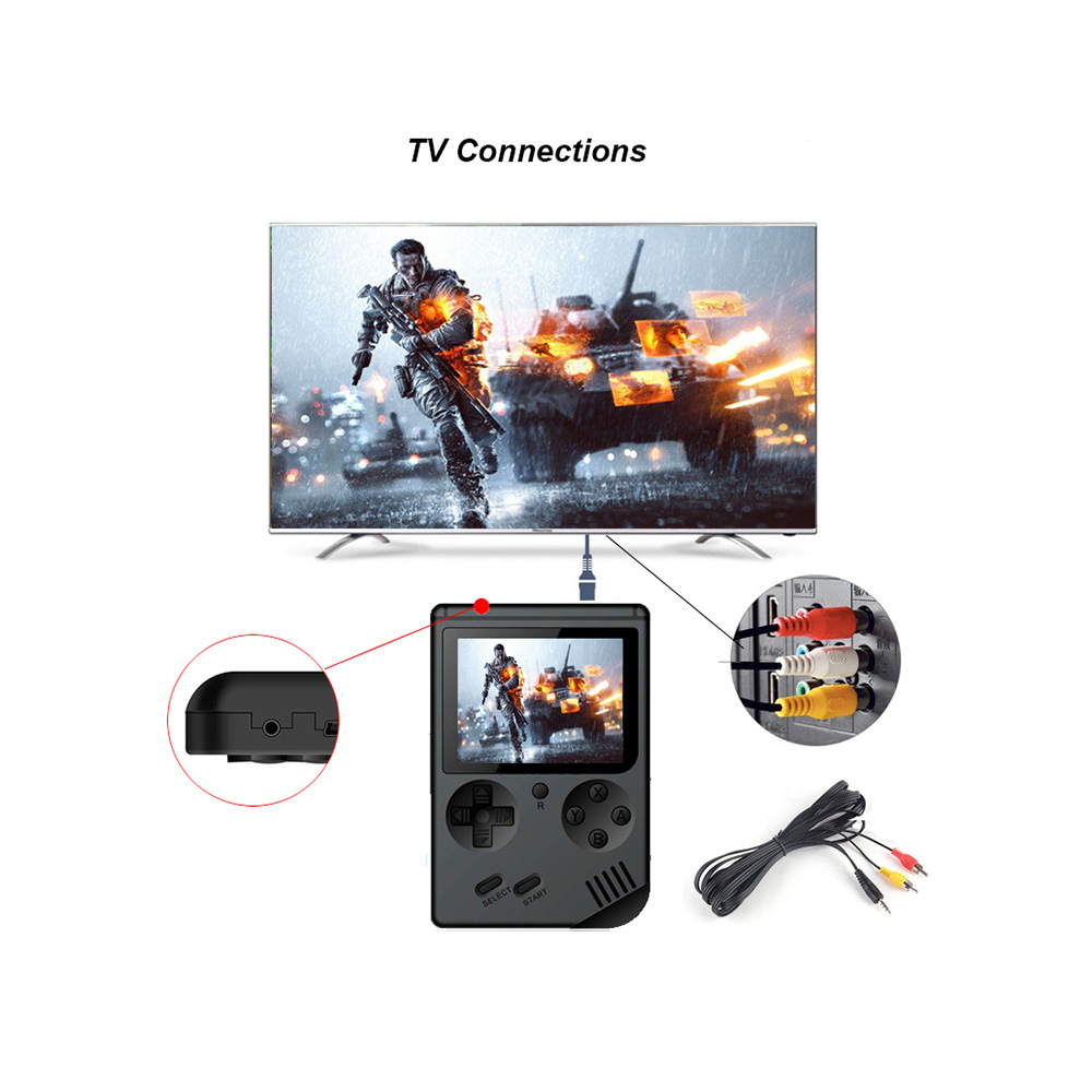 Купить с кэшбэком New Childhood Classic Game With 168 Games 3.0 Inch Portable Handheld Game Console Family TV Retro Video Consoles