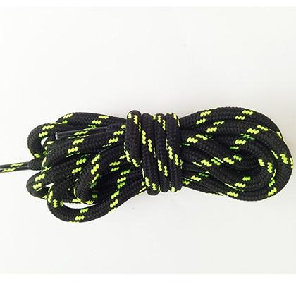 100-160 см спортивные круглые шнурки, 17 цветов, кроссовки, белые шнурки, спортивная обувь, шнурки, спортивная обувь, обувь для скейта, шнурки - Цвет: black brightgreen