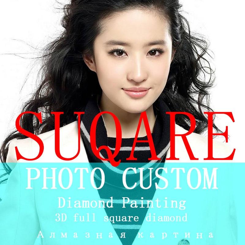 5D  DIY Photo Custom! Private custom! Diamond Painting Your Own Diamond Painting Full Square Rhinestone Embroidery(China)