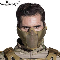 New Tactical Airsoft Mask Half Lower Face Metal Steel Net Hunting Protective Prop For Paintball Military