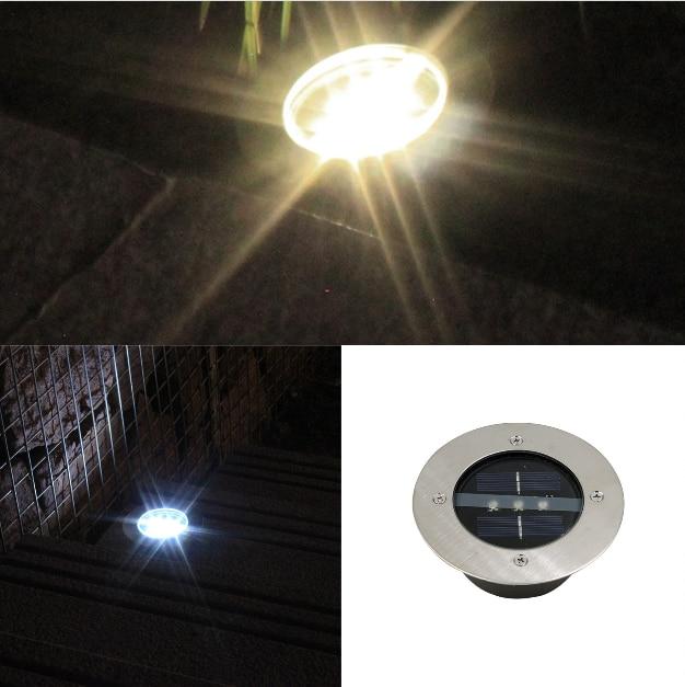 Солнечный светодиодный под грунтовый светильник на солнечных батареях грунтовый светильник Водонепроницаемая садовая настенная лампа с 3 светодиодный s лампа для дома подъездная дорога-W