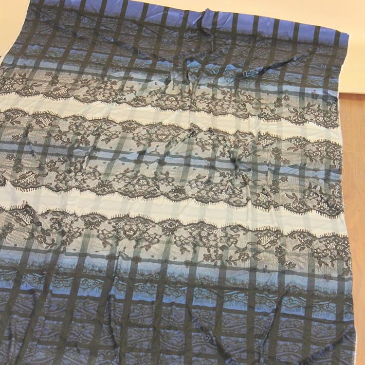soft spandex stretch silk fabric Charmeuse silk satin dress material Print width 138cm length 260cm thickness