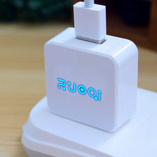 Fashion LED Light US Plug Smart USB Charger 5V 1.2A Wall Adapter Mobile Phone Device Data Charging For iPhone 5 6 iPad Samsung 2