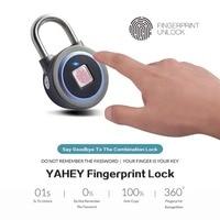 Impressão digital Cadeado  Cadeado de Bloqueio À Prova D' Água Anti-Roubo Keyless De Segurança do Bluetooth Ao Ar Livre para a Ginástica  a Porta  Mochila  bagagem