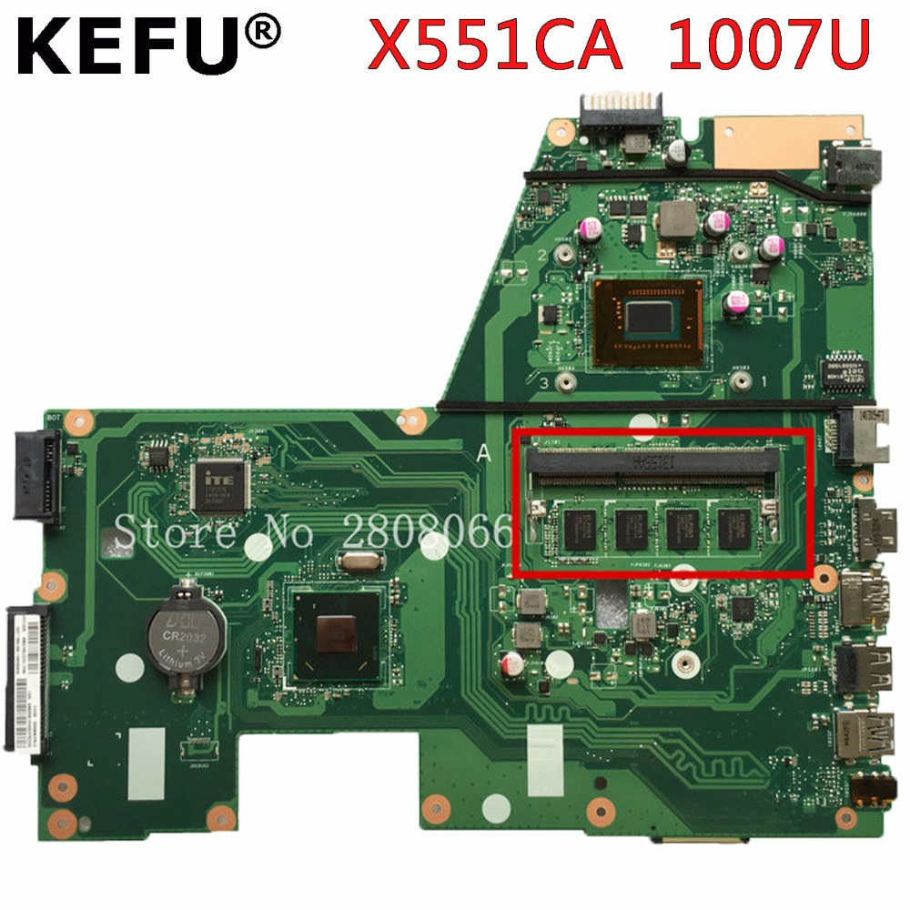 KEFU X551CA For ASUS X551CA Laptop motherboard X551CA mainboard REV2.2 1007u 100% tested new motherboard freeshipping kefu x551ca motherboard for asus x551ca laptop motherboard x551ca mainboard rev2 2 i3 cpu 100% tested freeshipping