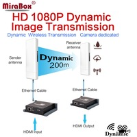 MiraBox Dynamic Wireless HDMI Extender Support 1080p Full HD Wireless Transmit Mobile Picture Up to 200m for Move HDMI Signal