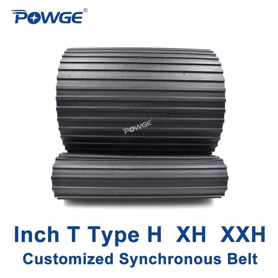POWGE Inch T Type H XH XXH synchronous Pitch 0.5