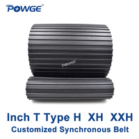 POWGE Inch T Type H XH XXH synchronous Pitch 0.5/0.875/1.25 Customized production all kinds of Trapezoid H XH XXH Timing Belt