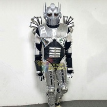 Robot Suit LED Clothing Dance Men Interstellar Robot Luminous Costumes Show Halloween Mardi Gras Carnival science fiction movie