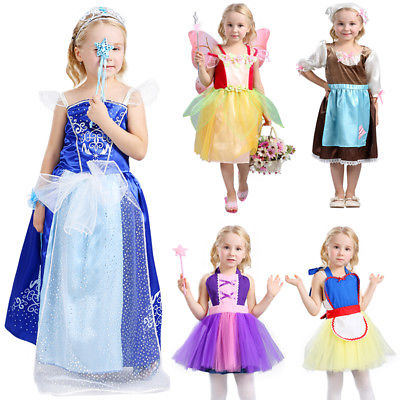 Baby Girl Cosplay Bow Dress Kids Party Wedding Pageant Lace Dresses Clothes Children Enfant Girls Lovely Princess Sundress Cute summer kids baby girls clothintg dress princess pageant wedding party lace short sleeve v neck dresses headband girl