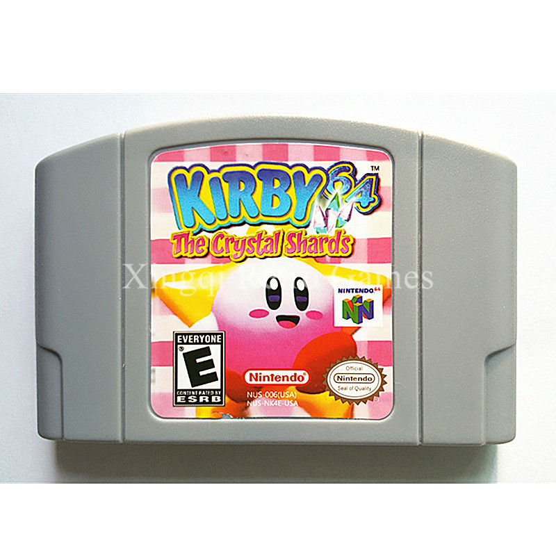 Nintendo 64 Game Kirby 64 The Crystal Shards Video Game Cartridge Console Card English Language US Version
