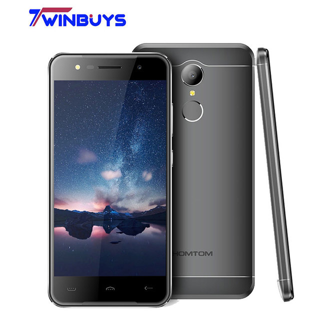 HOMTOM HT37 Fingerprint MTK6580 Quad Core Android 6.0 2GB RAM 16GB ROM Smartphone 5.0 Inch Fingeprint 3000mAh Mobile Phone