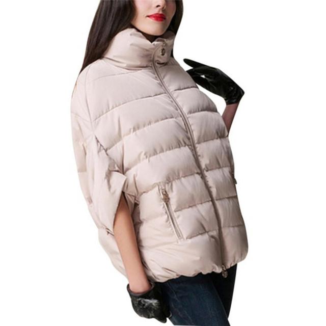 De moda mujeres caliente abajo Parka de invierno manga murciélago de algodón Pad Jacket Outwear S-XL