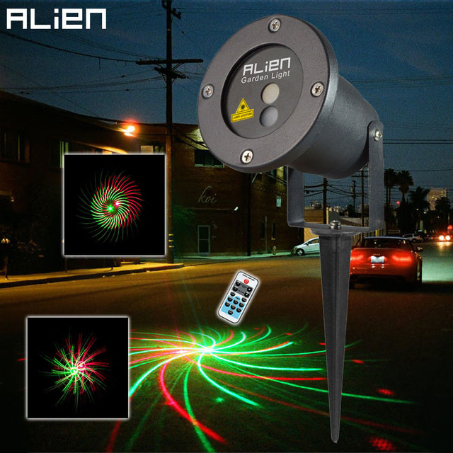 Christmas outdoor laser lights 12 patterns rg lighting projector outside garden light show for - Outdoor laser light show ...