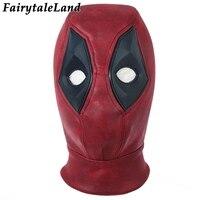 Deadpool 2 Cosplay Mask Wade Wilson Head wear Deadpool Mask Costume Props Headgear Hat Superhero Red Mask Halloween Accessories